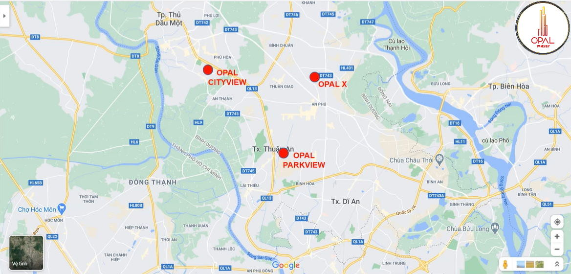 Vị trí Opal Parkview - Opal Cityview - Opal Centralview
